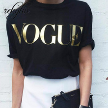 Moda marka 2019 t-shirty drukuj kobiety t-shirty O-Neck krótki rękaw lato topy Tee Trend style nadruk z różą Vogue odzież tanie tanio REKYLIN Poliester COTTON NONE Tees Letter REGULAR WCT003 Szyfonowa Na co dzień