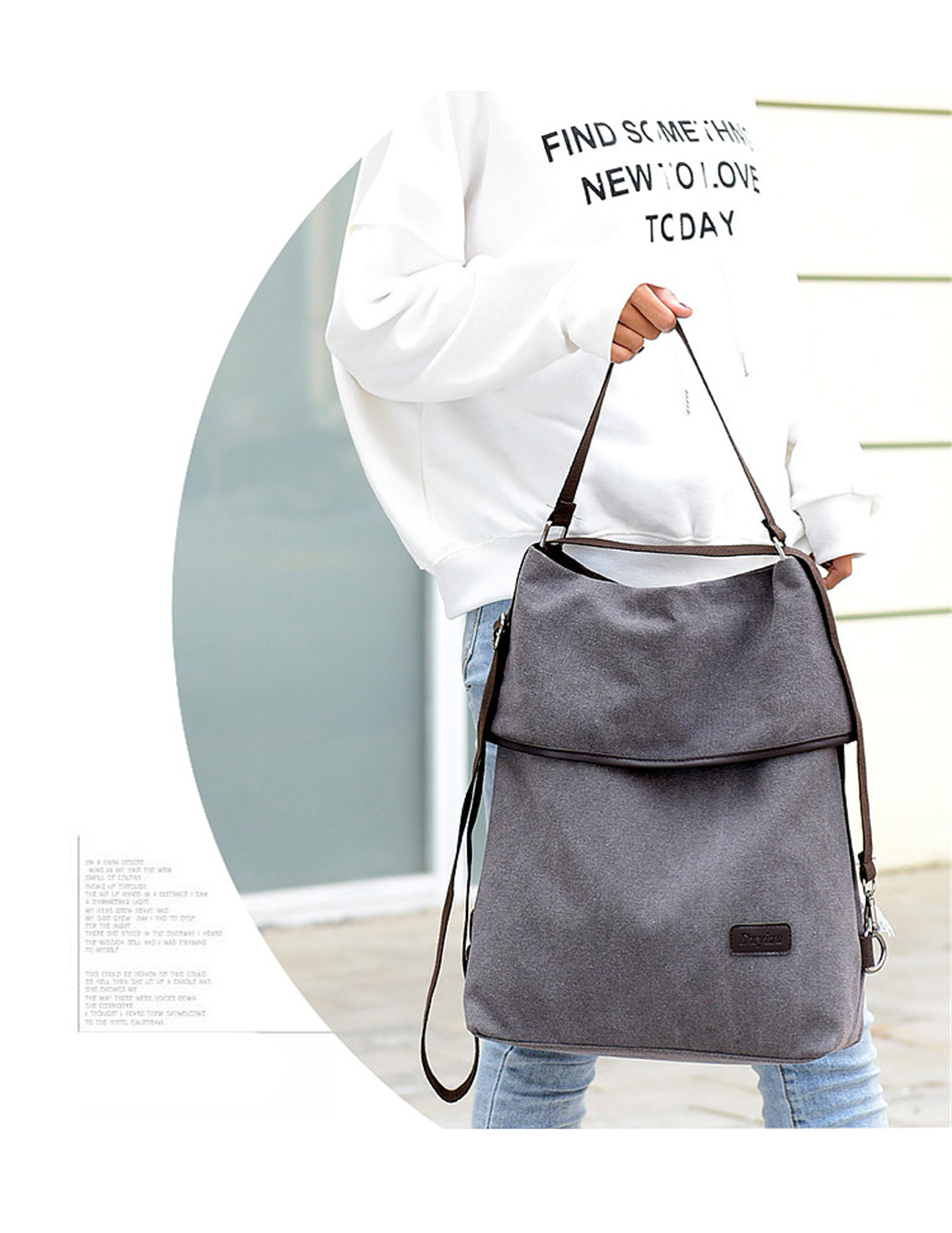Designer Canvas Handbags Leisure Crossbody Bags for Women 2020 New Handbags Women Sac A Main Multifunction Lady Shoulder Bags