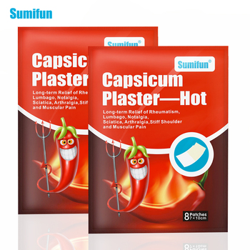 Sumifun 8/16Pcs Pepper Hot Pain Relief Plaster Back/neck/shoulder Chinese Herbal Medical for Joint/arthritis Patch 24pcs sumifun tiger balm medical plaster pain relief patch back neck arthritis 100% original chinese herbal stickers health care