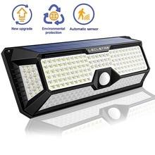 LED de luz de la noche con Sensor de movimiento Solar Powered noche lámpara impermeable al aire libre del Jardín camino calle lámpara de pared luminaria luz nocturna