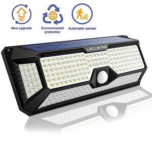 Image 1 - LED de luz de la noche con Sensor de movimiento Solar Powered noche lámpara impermeable al aire libre del Jardín camino calle lámpara de pared luminaria luz nocturna