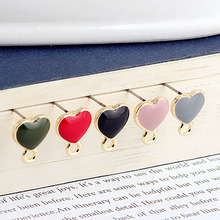 10 pcs korean fashion alloy color heart-shaped with hanging material pendant stud earrings for women diy jewelry accessories