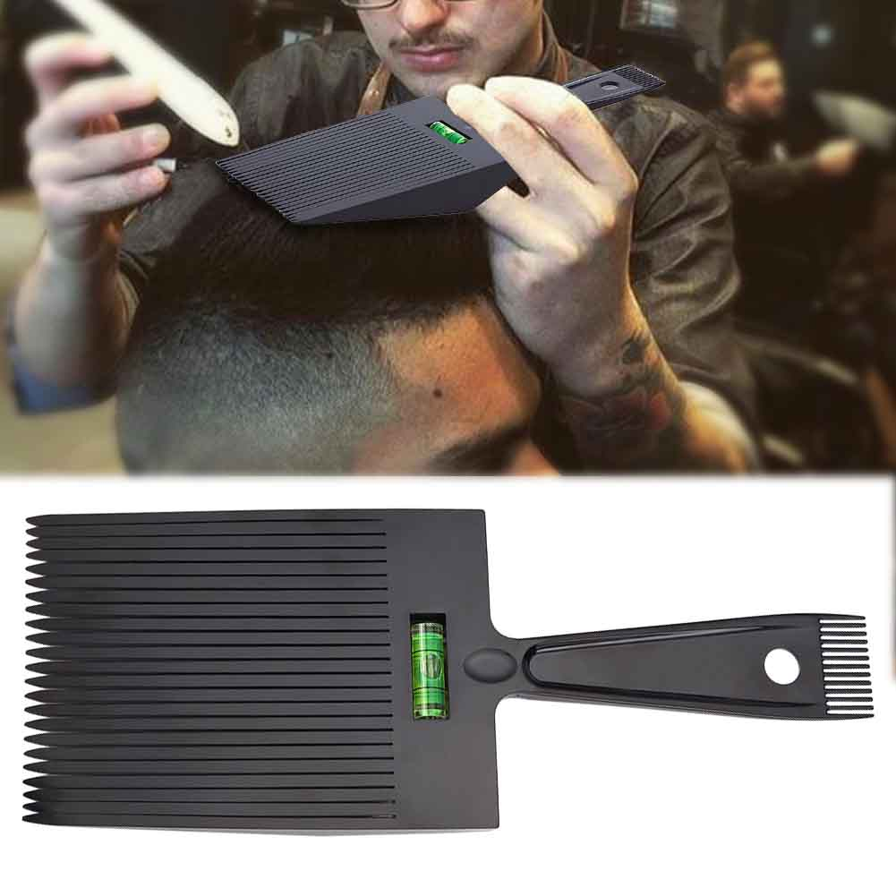 Hair Comb Black Anti Slide Water Leveling Hairdressing Salon Barber With Handle Wide Oil Head Flat Top Dual Ended Styling Tools