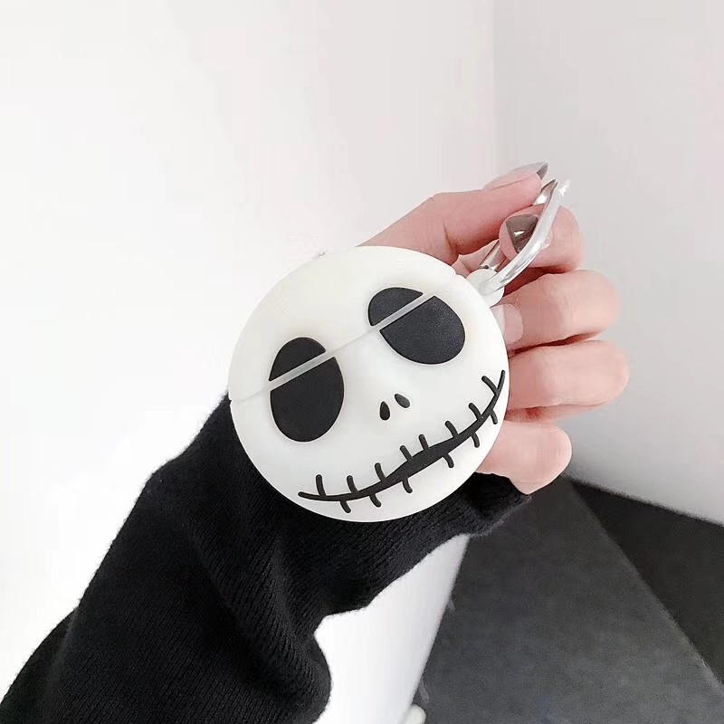 AirPods Silicone Luminous Skull Cartoon Headphone Case Apple Airpods 1 2 Accessories Shockproof Case