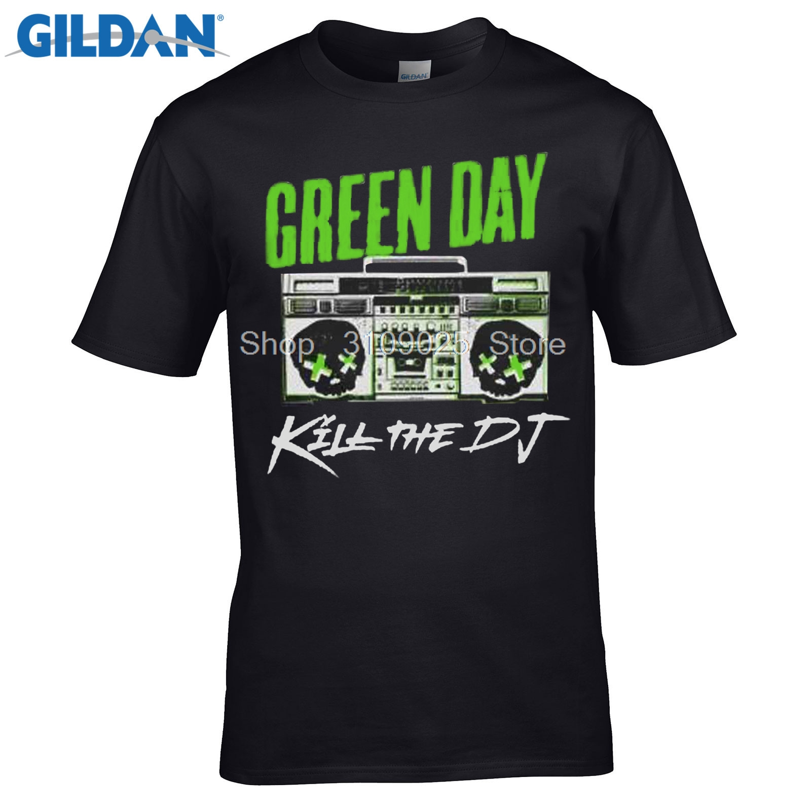 2019 New Arrivals Green Day Kill The Dj T Shirt Band Merch Rock Pop Punk Billie Armstrong Hipster Style Casual T Shirt