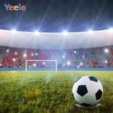 Yeele Photocall Shining Soccer Field Stadium Scene Photography Backgrounds Vinyl  Photographic Backdrops For Photo Studio Props yeele flowers vinyl photographic backgrounds baby shower photo newborn photography backdrops wedding photocall for photo studio