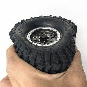 "Image 4 - 4PCS 120*48MM 1.9 ""Gummi Reifen Rad Reifen für 1:10 RC Rock Crawler Axial SCX10 SCX10 II 90046 90047 TAMIYA TRX 4 TRX4"