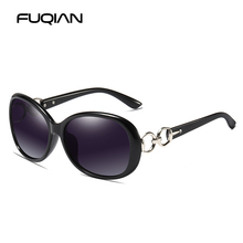 FUQIAN Luxruy Oval Sunglasses Polarized Women Classic Oversized Female Sun Glasses Fashion Driving Sunglass Oculos UV400