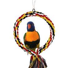 Качели птицы окунь Хлопок Веревка кольцо игрушка для попугай, волнистый попугай Parakeet Lovebird клетка жердочка для птиц