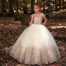 New 2020 Formal Bridesmaid Dress Kids Dresses For Girls Children Retro Lace Princess