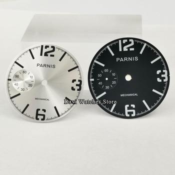 Reloj luminoso de 38,9mm con esfera plateada/negra compatible con movimiento ETA 6497 o St3600