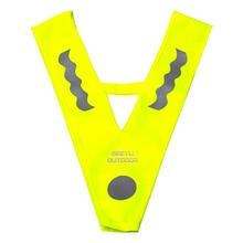 Для бега, велоспорта, v-образная форма, студентам, на открытом воздухе, безопасность дорожного движения, флуоресцентный желтый, детский светоотражающий жилет, высокая видимость, полиэстер