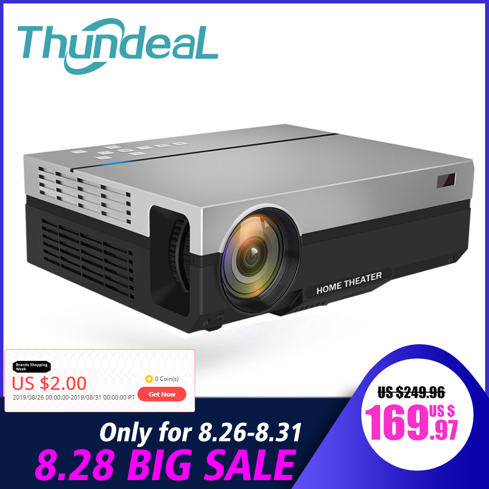 Thundeal Home Cinema Beamer Projector T26k Native Video Theater HDMI Lumens Full-Hd 1080P