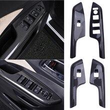 1Set Carbon Faser Stil Fenster Lift Schalter Trim Abdeckung Panel Fit Für Honda CRV 2012 2013 2014 2015 2016