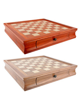 Wooden Chess Set Metal Alloy Walnut Chess Handmade Portable Travel Chess Board Game Sets Storage Slot High-end Chess Gift Box