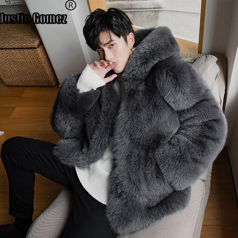 Лидер продаж; Модный дизайн; уличная одежда; очень удобная куртка с натуральным лисьим мехом; Homme; теплая утолщенная Роскошная удобная мягка