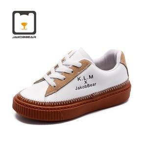 Image 2 - JAKOBBEAR Kids Cattle Leather Shoes for Girls Boys Children Autumn Winter Spring