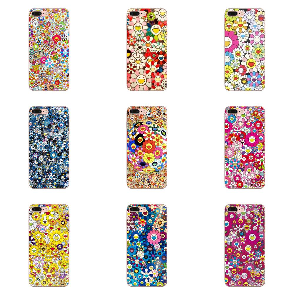 Colorful Murakami Takashi Sunflower For Xiaomi Mi3 Mi4 Mi4C Mi4i Mi5 Mi 5S 5X 6 6X 8 SE Pro Lite A1 Max Mix 2 Note 3 4