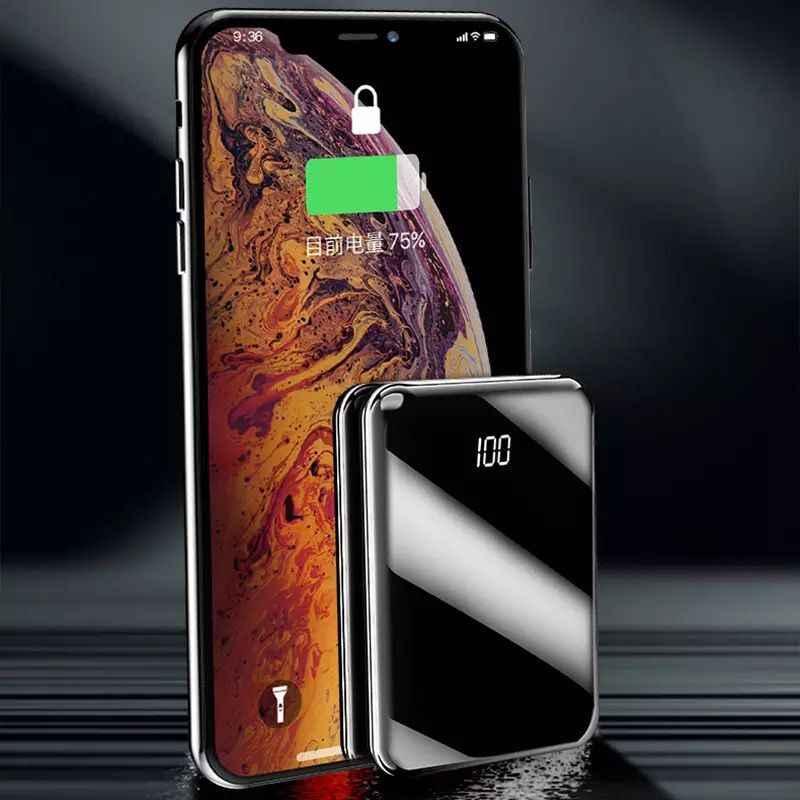 Banco de potência portátil mini 20000 mah para todo o telefone móvel banco de potência pover banco carregador 2 portas usb bateria externa poverbank
