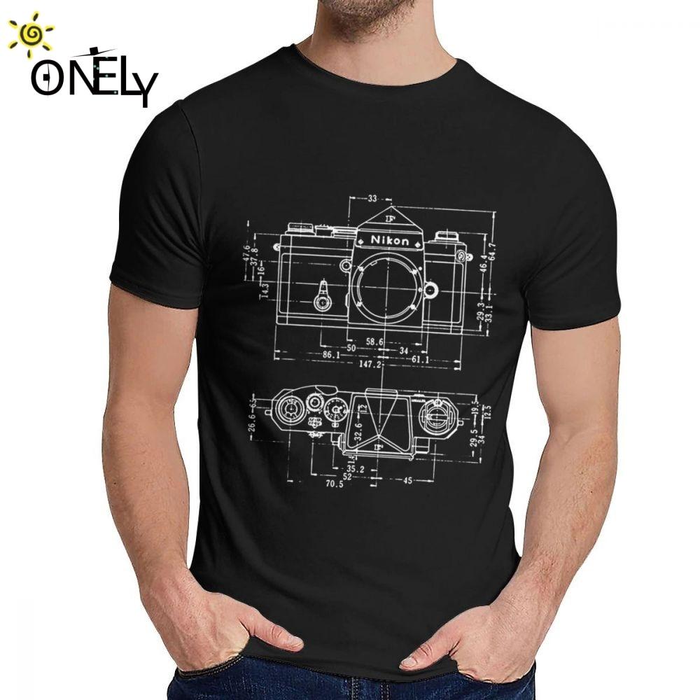 Crewneck Vintage Photography Nikon Blueprint T Shirt Hip Hop Unisex Comfortable La Camiseta S-6XL