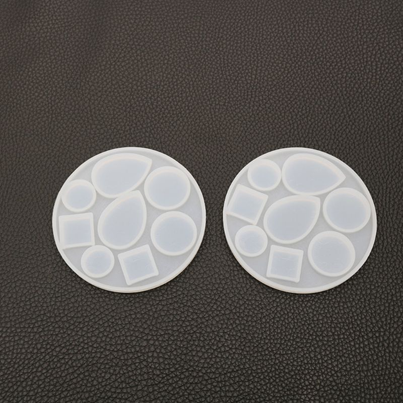 DIY Crafts Making Crystal Epoxy Mold Earrings Candy Mould High Mirror UV Resin Silicone Molds  N58F