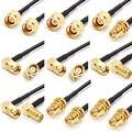 RP SMA macho a RP SMA Cable de extensión hembra para antena WIFI conector RF Cable RG174