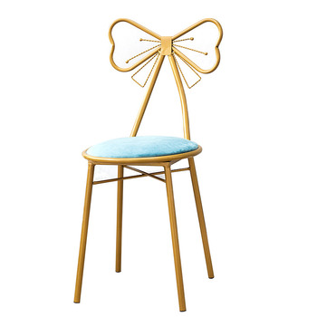 Modern Simple Dresser Stool Ins Nordic Girls' Heart Bedroom Backrest Princess Bow Manicure Makeup Chair