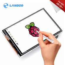 Raspberry pi 3.5 polegadas touch screen tft, lcd projetado para raspberry pi 4 modelo b/3b +/3b, 125mhz de alta velocidade spii, 480x320px, xpt204