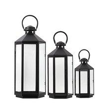 European Candlestick Simple Modern Glass Wrought Iron Floor Lamp Wind Candelabro Vela Candles Decoration 5X118
