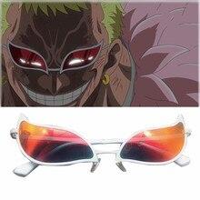 Uma peça donquixote doflamingo cosplay óculos anime pvc óculos de sol engraçado presente de natal