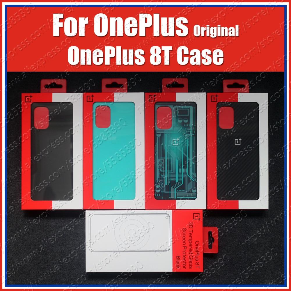 Официальные защитные чехлы KB2001 для OnePlus 8T, чехол, настоящий оригинальный песчаник, Квантовый бампер, голубой карбоновый бампер cyборг