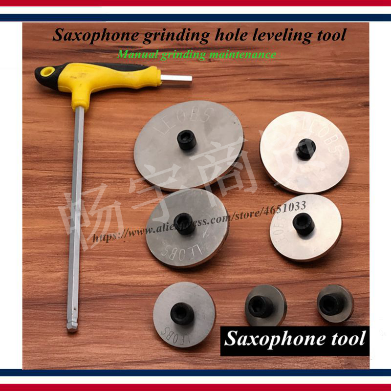 Wind Instrument Lapping Tools  Saxophone Tube Sound Hole Grinding Leveling Repair Tool  Manual Abrade Maintenance
