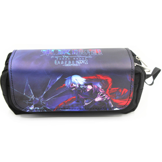 Anime Japanese Cartoon  Attack on Titan Tokyo Ghoul Kids Pencil Bags Make Up Case For Women With Handle 4