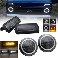 For Lada Niva 4X4 1995 LED DRL lights with White Daytime Running Light Amber Turn Signal Tail light