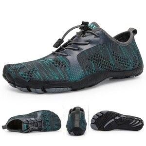 Image 5 - אקווה נעלי גברים יחפים גברים חוף נעלי לנשים במעלה הזרם נעלי הליכה לנשימה ספורט נעל מהיר יבש נהר ים מים סניקרס