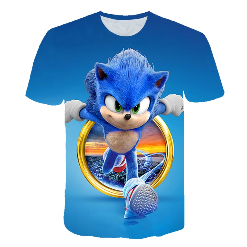 3D Boys Mario Supersonic Sonic Print Girls Funny T-shirts Costume Children 2020 Summer Clothing Kids Clothes Baby Tshirts Street