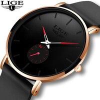 Relogio Masculino 2020 LIGE nowe mody proste męskie zegarki Top marka luksusowe wodoodporny zegarek kwarcowy dla mężczyzn unikalny zegar