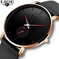 Relogio Masculino 2020 LIGE новые модные простые мужские часы Топ бренд класса люкс водонепроницаемые кварцевые наручные часы для мужчин уникальные ча...