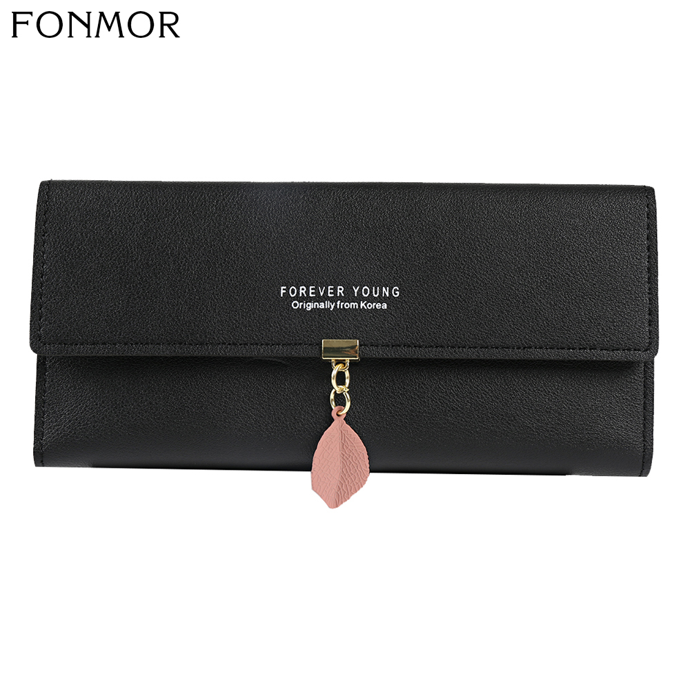 Women Wallets Long Purse New Luxury Brand Forever Young Woman Wallet Small Card Holder Purse Ladies Leather Women's Wallet Purse