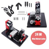24W Metal Mini Lathe Machine Lathe DIY Milling Machine Woodworking