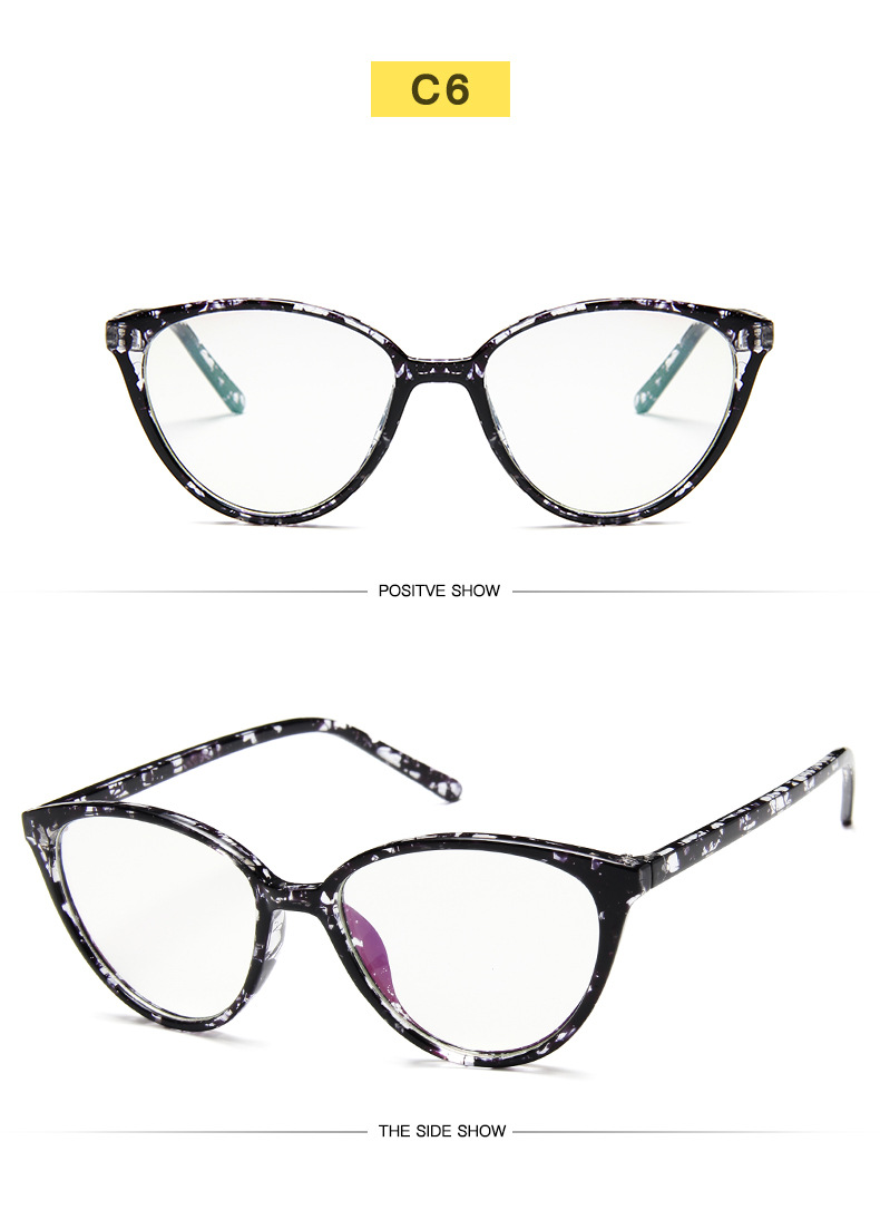 New Retro Cat Eye Women Glasses Frame Anti Blue Light Lady Eyeglasses Frame myopia Vintage Clear Glasses Optical Spectacle Frame (12)