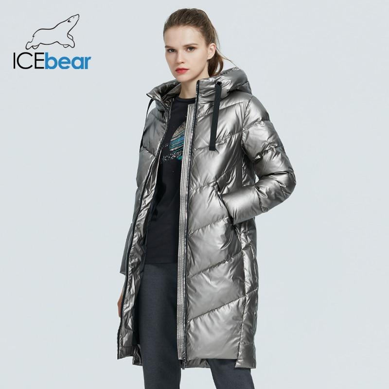 Permalink to ICEbear 2020 new hooded winter women's  jacket fashion casual slim long warm cotton coat brand ladies parkas GWD20302D