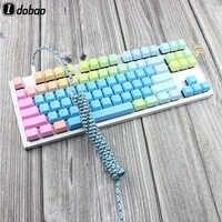 Fil de câble enroulé par Port de USB C en Nylon d'idobao clavier mécanique USB C able Type C Port d'usb pour le Kit 87 104 de clavier du Poker 2 GH60