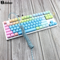 87 IDOBAO Nylon Usb C Port Coiled Cable Wire Mechanical Keyboard USB Cable Type C USB Port For Poker 2 GH60 Keyboard Kit 87 104 (1)