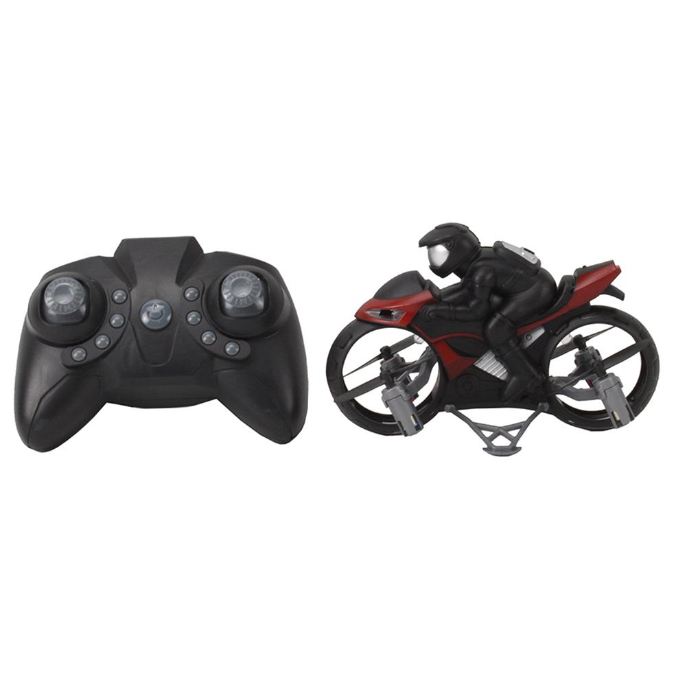 Remote Control Motorcycle 2 In 1 Land Air 2.4GHz Flying Off-road Motorcycle Drone With 360 Degree Rotation Drift Headless Mode