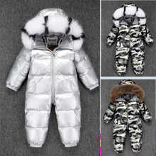 2019 New born baby onesie costume girl romper clothes down jumpsuit Boys thick snowsuit winter warm waterproof ski suit clothing - DISCOUNT ITEM  30% OFF Mother & Kids