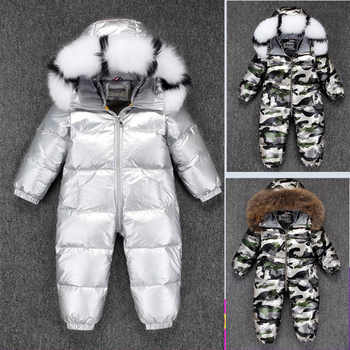 2019 New born baby onesie costume girl romper clothes down jumpsuit Boys thick snowsuit winter warm waterproof ski suit clothing