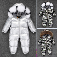 Girl Romper Costume Down-Jumpsuit Baby Onesie Thick Clothing Ski-Suit Waterproof Boys