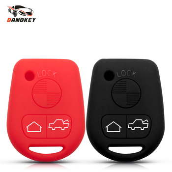 Dandkey New 3 Buttons Silicone Rubber Key Case Protect Cover For BMW E31 E32 E34 E36 E38 E39 E46 Z3 Z4 E90 E60 Car Accessories image