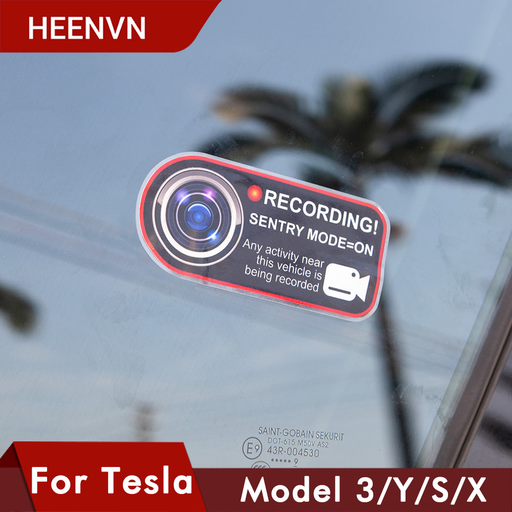 Новинка, автомобильные наклейки Heenvn для Tesla Model 3 2021, модель Y, S, X, аксессуары, наклейки на окна, наклейки для камеры, наклейки с оповещением, Ст...